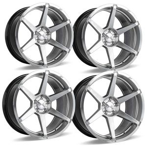 C7 Z06 Corvette ACE Flow Form AFF06 Wheels - Liquid Silver Machined
