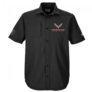 2014, 2015, 2016, 2017, C7 Corvette Racing Jake Under Armour Button Down Shirt : Black