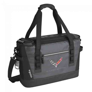 2014, 2015, 2016, 2017, 2018 C7 Corvette Stingray Igloo XL 45-Can Cooler with Cross Flags Logo
