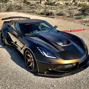 C7 Corvette Stingray, Z51, Z06, Grand Sport Ivan Tampi Customs Carbon Fiber XIK Hood