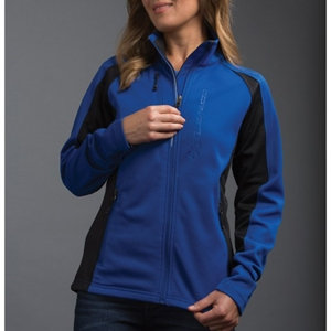 C7 Corvette Ladies Debossed Colorblock Jacket - Royal/Black.