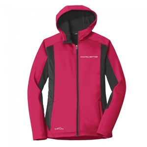 C7 Corvette Ladies Eddie Bauer Signature Jacket - Pink Lotus/Gray Steel.