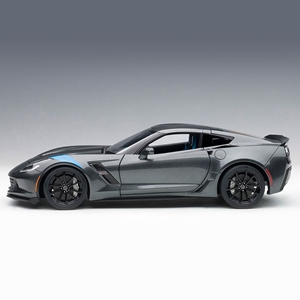 C7 Corvette Grand Sport - Watkins Glen Gray w/Blue Fender Stripe : Die Cast 1:18