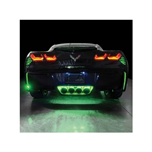 2014, 2015, 2016, 2017, C7 Corvette Stingray, Z51, Z06, Grand Sport, ZR1 RGB Bluetooth, Rear Fascia/Exhaust LED Lighting Kit