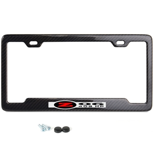 C5 Z06 405HP Corvette Carbon Fiber License Plate Frame