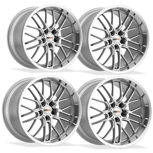Corvette Wheels - Cray Eagle (Set) : Silver with Mirror Cut Face and Lip