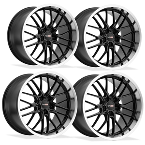 Corvette Wheels - Cray Eagle (Set) : Gloss Black with Mirror Cut Lip