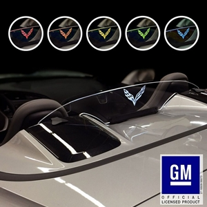 Corvette Convertible WindRestrictor® Illuminated Windscreen : C7 Stingray, Z51, Z06, Grand Sport