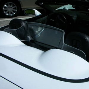 Corvette Convertible WindRestrictor® Windscreen - Crystal Clear or Smoked : C7 Stingray, Z51, Grand Sport