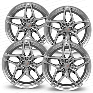 C7 ZR1 Corvette Genuine GM Wheels (Set) : Chrome 19x10.5 / 20x12