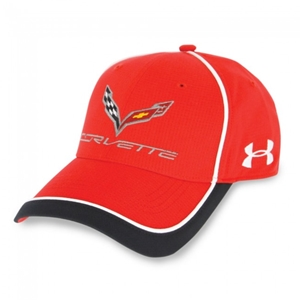 C7 Corvette Stingray Under Armour Fitted Hat/Cap : Red, White