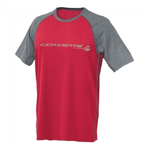 C7 Corvette Stingray Reverse-Mesh Tee : Red, Gray