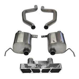 C7 Corvette ZR1 Exhaust - CORSA Xtreme Performance Exhaust System : Polished Polygon Tips