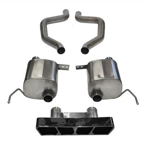C7 Corvette ZR1 Exhaust - CORSA Xtreme Performance Exhaust System : Black Polygon Tips