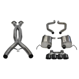 "C7 Corvette ZR1 Exhaust - CORSA Sport Performance Exhaust System : Black Quad 4.50"" Round Tips"