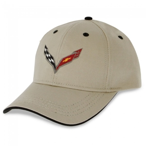 Corvette - Heritage Hat/Cap - Stone - Embroidered : C7 Stingray