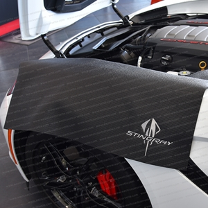 Corvette Fender Mat with C7 Stingray Logo : Black : Black