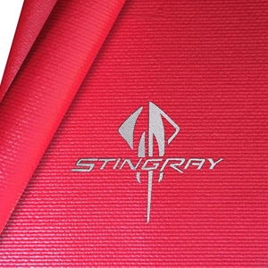 Red Corvette Fender Mat with Silver C7 Stingray Logo