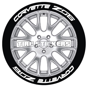 "Permanent 1"" C7 Corvette Z06 Tire Stickers."