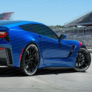 "Permanent 1"" C7 Corvette Grand Sport Tire Stickers."