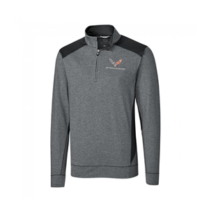 C7 Corvette Coastline Quarter-Zip Fleece : Charcoal Heather.