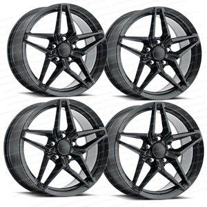 2018 C7 Corvette ZR1 Style Reproduction Wheels (Set) : Satin Black
