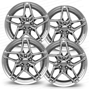 2018 C7 Corvette ZR1 Style Reproduction Wheels (Set) : Chrome