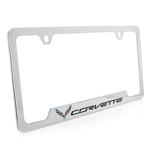 C7 Corvette Stingray Chrome Open Corner License Plate Frame