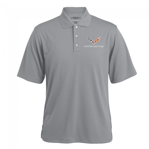 C7 Corvette Stingray Texture Polo - Gray Heather