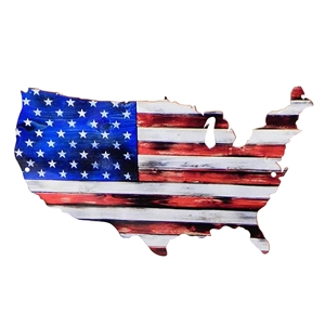 "American Flag Full USA Metal Wall Sign 12"" x 7"" or 24"" x 14"""