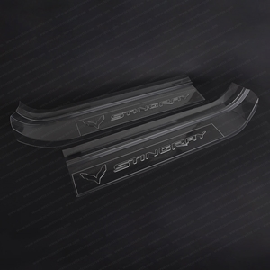 C7 Corvette Stingray Embossed Clear Door Sill Protectors