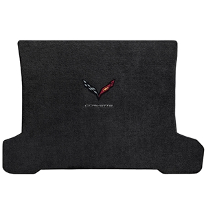 C7 Corvette Stingray Cargo Mat with Carbon Crossed Flags & Corvette Script - Lloyds Mats