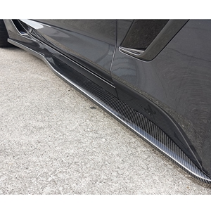 Corvette Side Skirts - Carbon Fiber Overlay : C7 Stingray, Z06, Grand Sport
