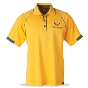 C7 Corvette Racing Aloha Snag Resistant Polo - Yellow : C7 Stingray, Z06, Grand Sport, ZR1