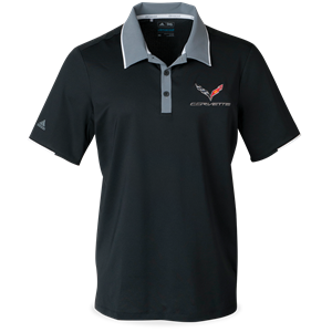 C7 Corvette Adidas Performance Colorblock Polo - Black