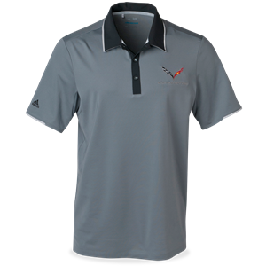 C7 Corvette Adidas Performance Colorblock Polo - Gray
