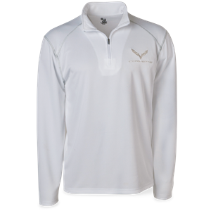 C7 Corvette Money Mesh 1/4 Zip Jacket : White