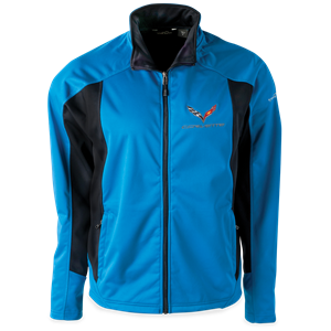 C7 Corvette Eddie Bauer Soft Shell Jacket : Blue