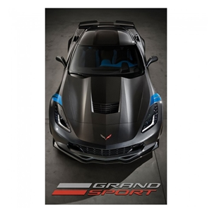 C7 Corvette Grand Sport Microfleece Travel Blanket with Carry Case