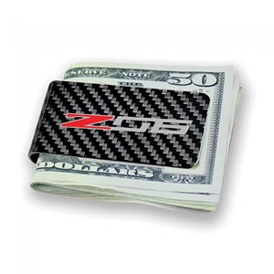 C7 Corvette Z06 Carbon Fiber Money Clip - Black