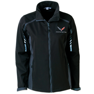 C7 Logo Corvette Ladies Embark Soft Shell Jacket : Black