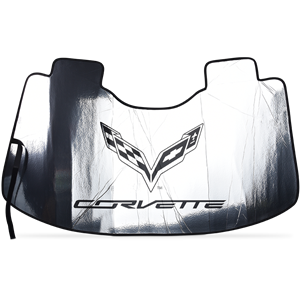 Corvette Windshield Sunshade with C7 Logo : C7 Stingray, Z51, Z06, Grand Sport