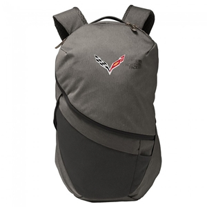 C7 Corvette North Face® Aurora II Backpack with C7 Cross Flags Logo