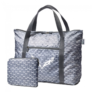 C7 Corvette RuMe® cFold Travel Duffel Marshall with C7 Cross Flags Logo - Navy