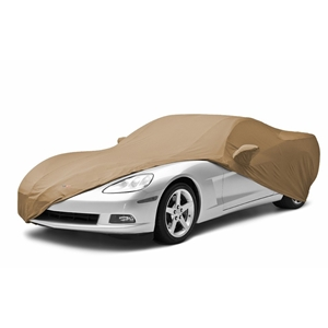 2006-2013 C6 Corvette Coupe Car Cover Coverking® - Satin Stretch™ Indoor Custom - Tan