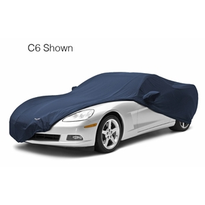2010-2013 C6 Corvette Grand Sport Convertible Dark Blue Car Cover Coverking® - Satin Stretch™ Indoor Custom - Yellow