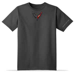 C8 Corvette Next Generation Carbon Badge T-shirt : Charcoal