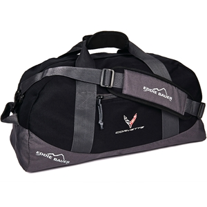 C8 Corvette Next Generation Eddie Bauer Duffle with Cross Flags Logo - Black