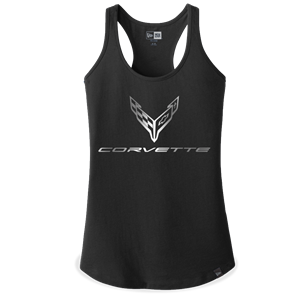 C8 Corvette Next Generation Foil Racerback Tank - Ladies : Black