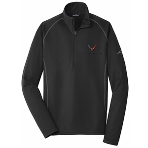 C8 Corvette Next Generation Eddie Bauer Half Zip Fleece Jacket : Black